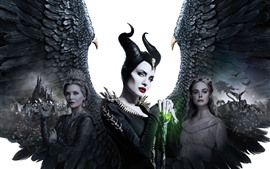 Preview wallpaper Maleficent: Mistress of Evil, Angelina Jolie