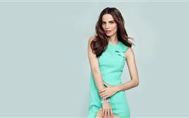Vorschau des Hintergrundbilder Model Girl, grüner Rock