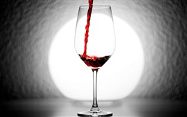 Preview wallpaper Red wine, glass cup, backlight