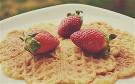 Strawberries, pancake