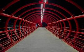 Aperçu fond d'écran Tunnel, pont, nuit