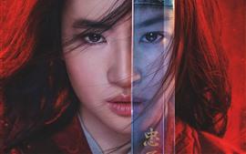 Preview wallpaper Yifei Liu, Mulan 2020
