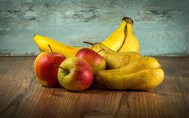 Aperçu fond d'écran Pommes, poires, bananes