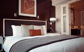 Aperçu fond d'écran Chambre, lit, hôtel