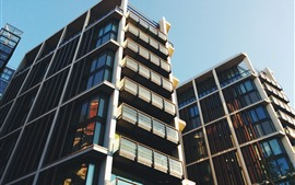 Город, здания, окна, балкон