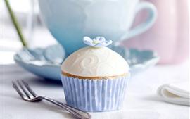Vorschau des Hintergrundbilder Cupcake, Blume, Gabel