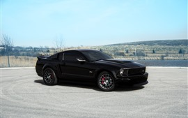 Preview wallpaper Ford Mustang GT black supercar side view