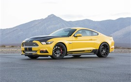 Preview wallpaper Ford Mustang Shelby GT yellow supercar