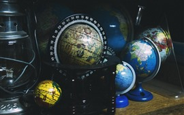 Globes, geography