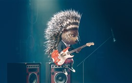 Preview wallpaper Hedgehog, sing, bess, cartoon movie