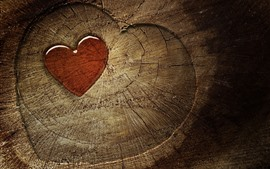 Preview wallpaper Love heart, stump, texture