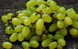 Preview wallpaper Many green grapes, fruit