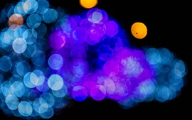 Preview wallpaper Many light circles, blue, purple, orange