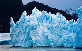 Patagônia, geleira, gelo, azul