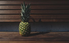 Preview wallpaper Pineapple, bench, shadow
