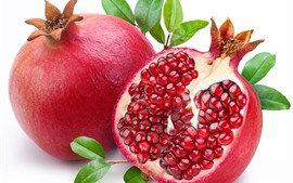Pomegranate, white background