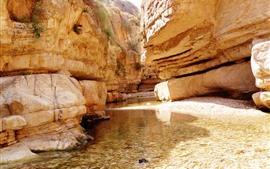 미리보기 배경 화면 바위, 물, 개울