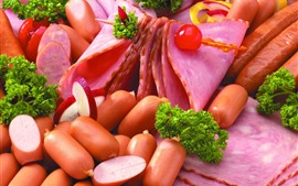 Preview wallpaper Sausage, hot dogs, food