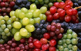 Preview wallpaper Some different grapes, red, green, black