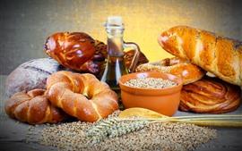 Pan, trigo, aceite