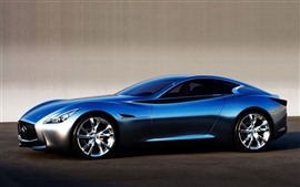 Preview wallpaper Infiniti blue supercar side view