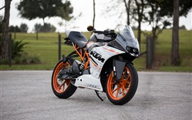 Preview wallpaper KTM motorcycle side view, road