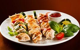 미리보기 배경 화면 케밥, 음식, 고기