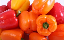 Orange and red peppers, vegetable