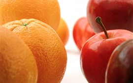 Preview wallpaper Oranges and apples, fruits