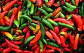 Preview wallpaper Red and green peppers, chilli, not fresh