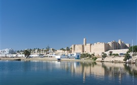 Preview wallpaper Tunisia, river, city
