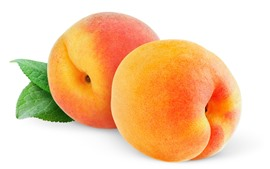 Preview wallpaper Two peaches, white background