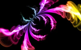 Preview wallpaper Abstract picture, colorful smoke, like a spider