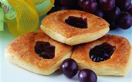 Bread, grapes