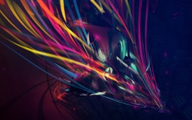 Preview wallpaper Colorful lines, abstract, creative design