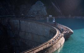 미리보기 배경 화면 댐, 자동차, 강