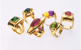 Preview wallpaper Gold rings, diamond