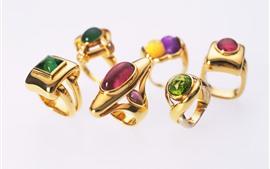 Anéis de ouro, diamante