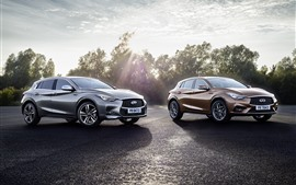 Preview wallpaper Infiniti Q30S cars, sunshine