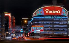Las Vegas, city, night, lights, road, USA