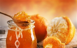 Preview wallpaper Oranges, jam, sweet