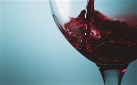Preview wallpaper Red wine, glass cup, drinks