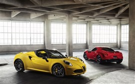 Preview wallpaper Alfa Romeo red and yellow supercars