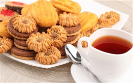 Preview wallpaper Biscuits, tea, food