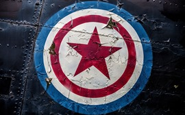 Preview wallpaper Captain America, shield, logo, graffiti