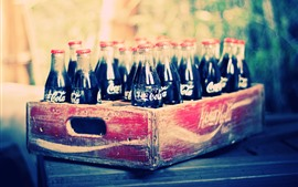 Preview wallpaper Coca-Cola, bottles, drinks, box