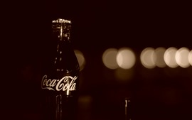 Preview wallpaper Coca-Cola, drinks, bottle, darkness