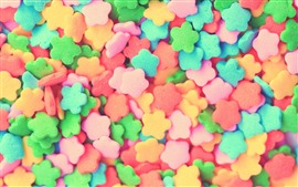 Preview wallpaper Colorful candy, flowers