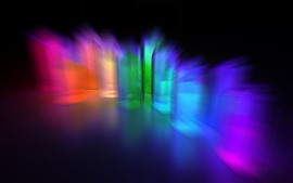 Colorful light rays, abstract, darkness