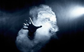 Preview wallpaper Dark, hand, smoke